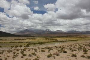 La cordillera de los andes desde el lado boliviano